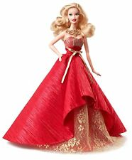 Barbie Doll 2014 Holiday blonde Bdh13 Red Gown Mattel Europe