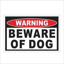 3M Graphics Warning Beware of Dog Vinyl Car Truck Decal Sticker Helmet Decor