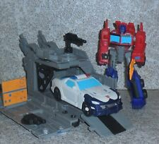 Transformers Cyberverse Warrior OPTIMUS PRIME Complete w Trailer and Prowl