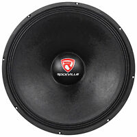 "Rockville RVW1800P8 1800w 18"" Raw DJ Subwoofer 8 Ohm Sub Woofer 107OZ Magnet"