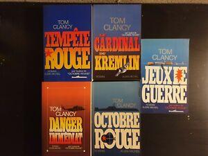 5 Livres Tom Clancy Editeur Albin Michel