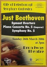 Just Beethoven programme City of Peterborough Symphony Orchestra CPSO 26/03/2006
