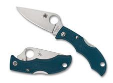 Spyderco Ladybug Blue K390 Plain Blade Folding Knife Yslfp3k390