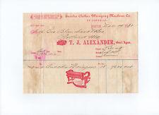 BOSTON 1881 receipt Eureka Clothes Wringing Machine Co. - George Blanchard & Co.