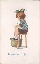 Greetings Card To Someone I Love Writing letters Faulkner card Posted 1917