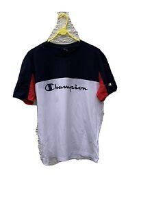 White And Blue Mena Champion T Shirt (m)