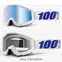 100 % Prozent Brille Strata Equinox weiß  Motocross Enduro Downhill Cross Quad