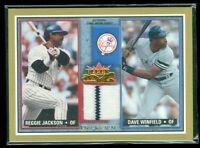 2002 Fleer Fall Classics Rival Factions Game Used Reggie Jackson/Dave Winfield
