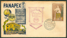 1st PAN-ASIAN PHILATELIC EXHIBITION 1952 PANAPEX Rizal Maria Cla First Day Cover