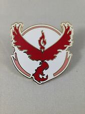 Pokemon Team Valor Metal Pin GO Red And White