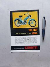 Cimatti TE 3 M 50 depliant ciclomotore anni 70 originale brochure
