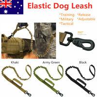 Training Military Tactical Dog Leash Release Elastic Adjustable Leads Belt AU