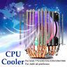 RGB CPU VENTOLA RAFFREDDAMENTO DISSIPATORE PER INTEL LGA 775//1155/1156/1366  *