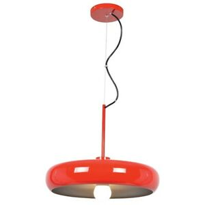 Access Lighting Bistro Small Pendant, Red and Silver - 23882LEDDLP-RED-SILV