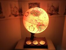 Vintage💡Scan Globe w/ 3 Gauges on Wooden Base. Denmark (c)1980s. Very 😎 •SDS&H