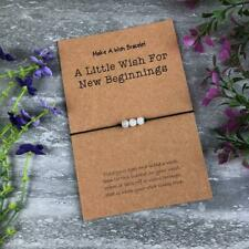 New Beginnings Wish Bracelet, Moonstone Crystals, Healing Bracelet, Moonstone