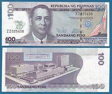 Philippines 100 Piso P 213 2012 UNC Commemorative Manila Hotel Low Shipping!