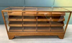 Oak Haberdashery Drawers Shop Counter Display Cabinet