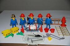 Playmobil 3403 a) Bomberos mascaras Pompiers Vintage