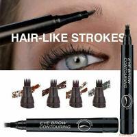 Microblading Tattoo 4-Fork Eyebrow Liquid Ink Pen Waterproof Pencil Brow Definer