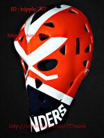 VINTAGE FIBERGLASS AIR ROLLER NHL ICE HOCKEY GOALIE HELMET MASK Billy Smith HO91