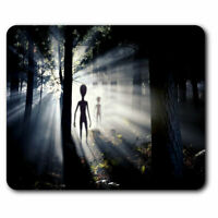 Computer Mouse Mat - Alien Encounter UFO Space Office Gift #2032