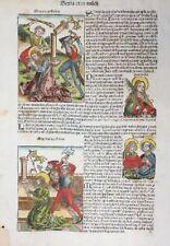 BLATT SCHEDEL WELTCHRONIK HEILIGEN MARTYRIUM APOSTEL MATTHEUS JUDAS TADEUS 1493