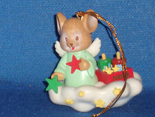 1992 Matrix Ornament Angel Mouse on Cloud Stars Popsicle's