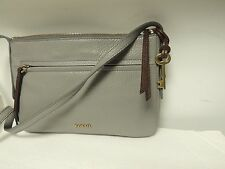 Fossil JENNA small crossbody in grey leather  NWT