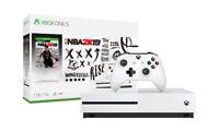 Microsoft Xbox One S 1TB Console NBA 2k19 Bundle - White BRAND NEW
