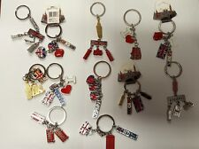 I LOVE LONDON UNION JACK 12 KEYRINGS  ENGLAND SOUVENIRS KEYCHAIN  KEY RINGS