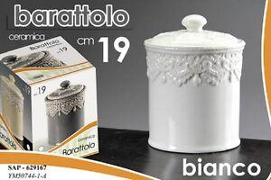 BARATTOLO BIANCO IN CERAMICA 19 CM SAP-629167