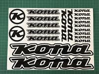 KONA Cycling Stickers Decals Custom Sizes Colours Bike Frame Fork MTB Road