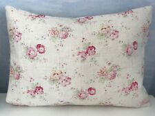 Peony and Sage  Roses & Sweet Pea Cushion Cover  Linen Fabric Laura Ashley