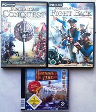 AMERICAN CONQUEST Hauptspiel + ADDON Fight Back + Anno 1503 Königs Edition PC