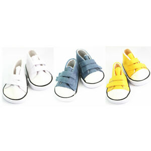 3 Pair Canvas Shoes for 18inch AG American Doll My Life Dolls Clothing Parts