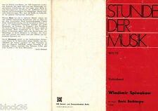 1971/72 STUNDE DER MUSIK concert by W.Spiwakow (V.Spivakov) and B.Bechterew
