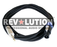 "33ft Speakon To 6.35 mm (1/4"") Jack Male Dj/ Pro Audio Speaker Cable"