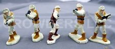 "Star Wars Micro Collection 5 1.25"" Die Cast Figurines Hoth Rebel Troopers & Luke"