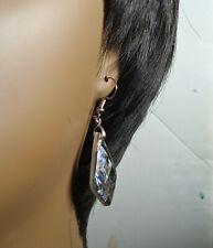 New Zealand Abalone Diamond-shaped Dangle Drop Earrings [EAR-383]