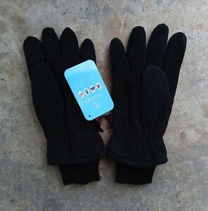 Ozero Thermal Deerskin Suede Leather Outdoor Medium Gloves - Black - NWT