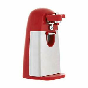 Basics Electric Can Opener Red