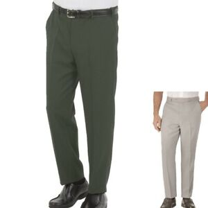 Mens Gents Adult Comfort Fit Tailored Trousers High Waisted Regular Office