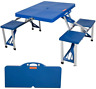 Livebest Portable Picnic Table Bench Folding Camping 4 Seats Aluminum Outdoor