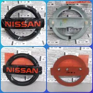NISSAN Navara GENUINE FRONT REAR Red Black Glossy EMBLEM NP300 D23 DC KC Terr