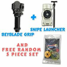 Beyblade BB-103 Snipe Launcher & BB-15 Standard Power Grip + Tips / Parts / Card