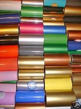 "HOT STAMP STAMPING FOIL KINGSLEY HOWARD 12 ASST COLORS 2""x100' PLUS CANISTER"