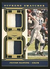 New listing 2020 Panini Plates & Patches Peyton Manning Dual Patch #21/50 Supreme Swatches