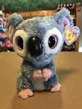 "Ty KOOKY -Grey/Pink Koala Bear 6"" Beanie Boo! *Retired* SUPER RARE & VHTF!!"