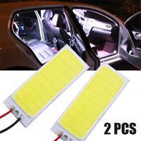 2pcs Car Lights 12V HID White 36-COB LED Dome Map Bulbs Interior Panel Lamps Set
